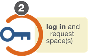 Login and reserve a space